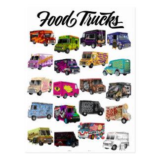 Carte Postale Calembours de camion de nourriture