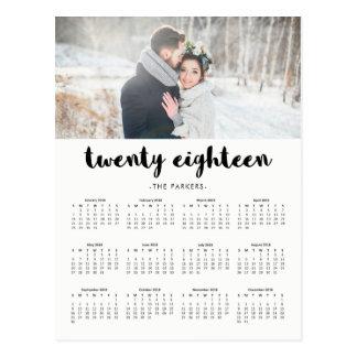 Carte Postale Calendrier 2018 moderne minimal de photo de