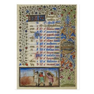 Carte Postale Calendrier médiéval : Février