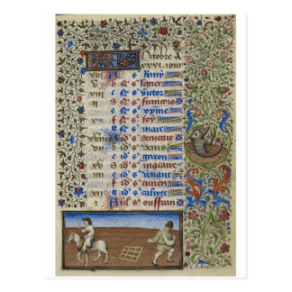 Carte Postale Calendrier médiéval : Octobre