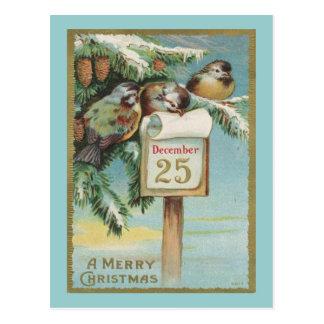 Carte Postale Calendrier vintage d'avènement