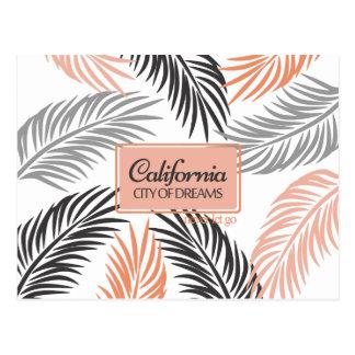 """Carte Postale """"Californita, ville corail de rêves"""" et fronde de"""
