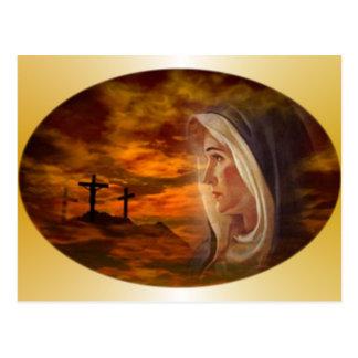 Carte Postale Calvaire béni de Vierge Marie