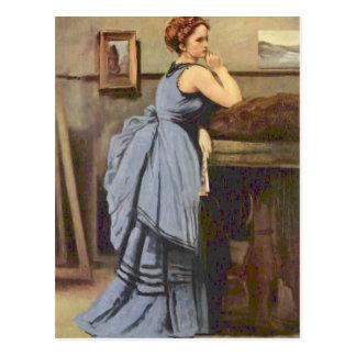 Carte Postale Camille Corot- la femme dans le bleu