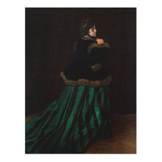 Carte Postale Camille (femme dans la robe verte) par Claude