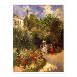 Carte Postale Camille Pissarro - arbre d'ombrage de banc du