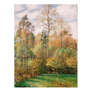 Carte Postale Camille Pissarro - automne, peupliers, Eragny