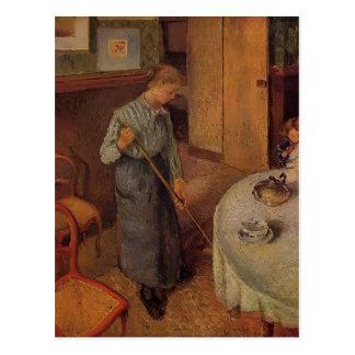 Carte Postale Camille Pissarro- la petite domestique de pays