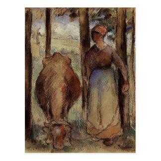 Carte Postale Camille Pissarro : Le vacher