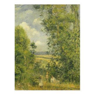 Carte Postale Camille Pissarro | un repos dans le pré
