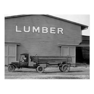 Carte Postale Camion antique de bois de charpente, les années