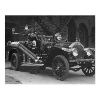 Carte Postale Camion de pompiers 1924 de la France de La