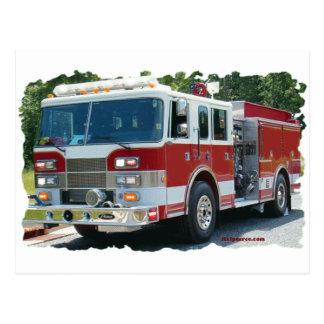 Carte Postale Camion de pompiers de Pierce