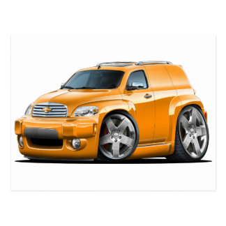 Carte Postale Camionnette orange de Chevy HHR