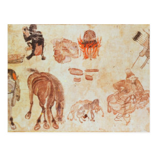 Carte Postale Camp nomade mongol, XVème siècle