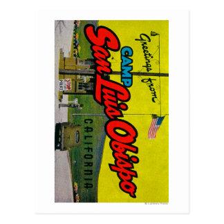 Carte Postale Camp San Luis Obispo, la Californie