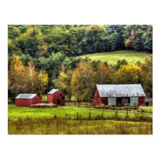 Carte Postale Campagne rouge de la Virginie d'automne d'automne