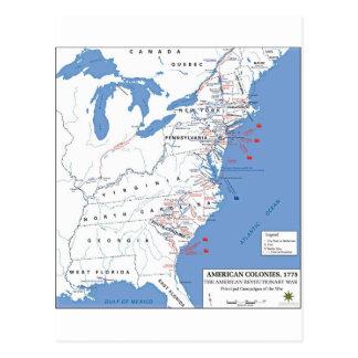 Carte Postale Campagnes militaires de la révolution américaine