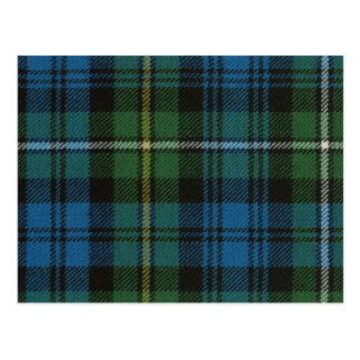 Carte postale Campbell de copie antique de tartan