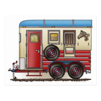 Carte Postale Campeur de remorque de cheval