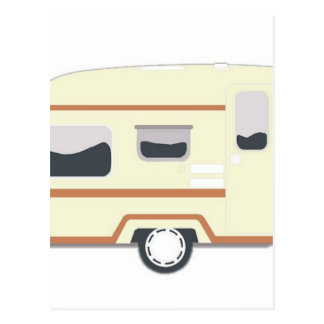 Carte Postale Camping de remorque de campeur Van