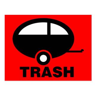 Carte Postale Camping de voyage du ~ rv de déchets de remorque