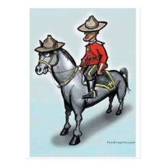 Carte Postale Canadien Mounty