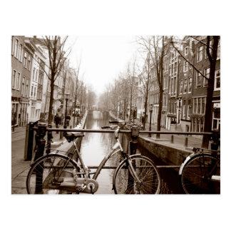Carte Postale Canal d'Amsterdam