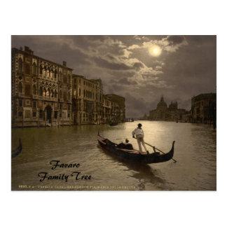 Carte Postale Canal grand par le clair de lune II, Venise,