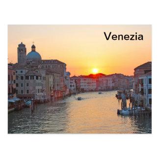 Carte Postale Canal grand Venise - lever de soleil