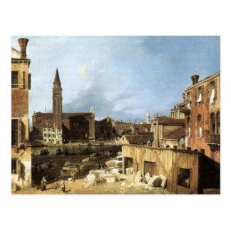 Carte Postale Canaletto, le yard du tailleur de pierres