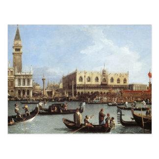 Carte Postale Canaletto, retour du Bucentoro