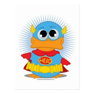 Carte Postale Canard de super héros