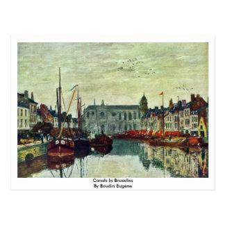 Carte Postale Canaux à Bruxelles par Boudin Eugène