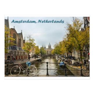 Carte Postale Canaux d'Amsterdam pendant l'automne Postacrd
