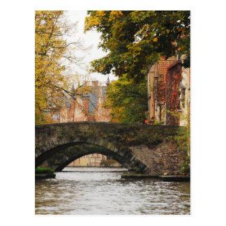 Carte Postale Canaux de Bruges, Belgique