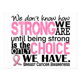 Carte Postale Cancer du sein comme nous forts sommes