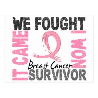 Carte Postale Cancer du sein du survivant 5