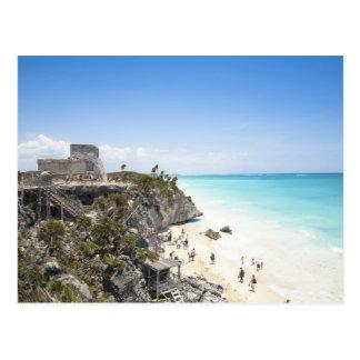 Carte Postale Cancun, Quintana Roo, Mexique - ruines sur une