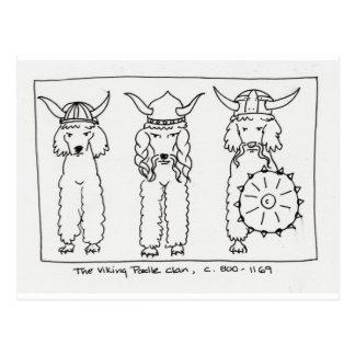 Carte Postale Caniche de Viking