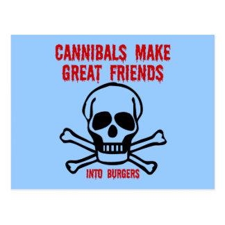 Carte Postale Cannibales drôles