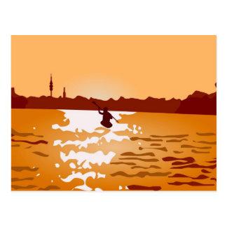 Carte Postale Canoë