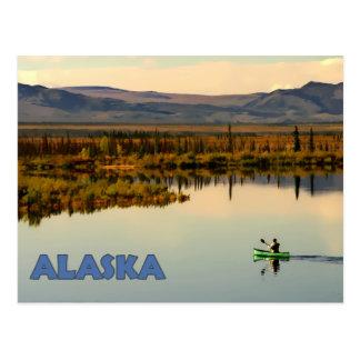 Carte Postale Canoë Alaska