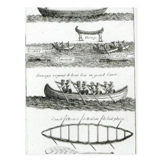 Carte Postale Canoë de l'Iroquois