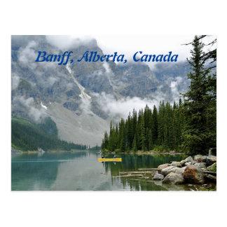 Carte Postale Canoë jaune, Banff, Alberta, Canada
