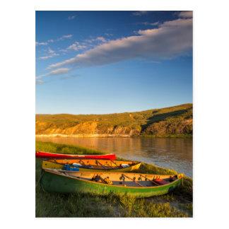 Carte Postale Canoë-kayak le long des falaises blanches du
