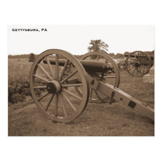 Carte Postale Canon de guerre civile, Gettysburg, PA