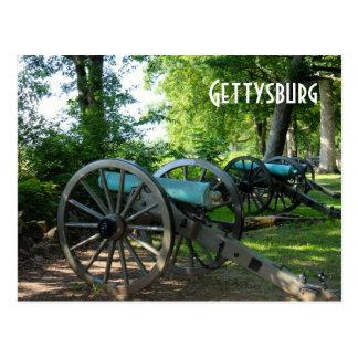 Carte Postale Canons de parc militaire national de Gettysburg