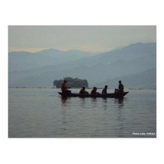 Carte Postale Canotage de lac Pokhara Phewa