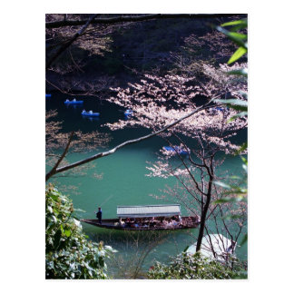 Carte Postale Canotage de ressort dans Arashiyama